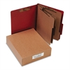 ACCO Pressboard 20-Pt Classification Folders, Letter, 8-Section, Earth Red, 10/Box