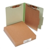 ACCO Pressboard 25-Pt Classification Folders, Letter, 4-Section, Leaf Green, 10/Box
