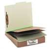 ACCO Pressboard 25-Pt Classification Folders, Letter, 6-Section, Leaf Green, 10/Box