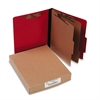 ACCO ColorLife PRESSTEX Classification Folders, Letter, 6-Section, Exec Red, 10/Box