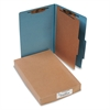 ACCO Pressboard 25-Pt Classification Folders, Legal, 4-Section, Sky Blue, 10/Box