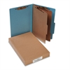 ACCO Pressboard 25-Pt Classification Folders, Legal, 6-Section, Sky Blue, 10/Box