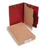 ACCO Pressboard 25-Pt Classification Folders, Legal, 4-Section, Earth Red, 10/Box