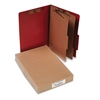 ACCO Pressboard 25-Pt Classification Folders, Legal, 6-Section, Earth Red, 10/Box