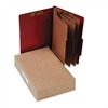 ACCO Pressboard 25-Pt Classification Folders, Legal, 8-Section, Earth Red, 10/Box