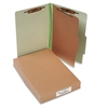 ACCO Pressboard 25-Pt Classification Folders, Legal, 4-Section, Leaf Green, 10/Box