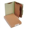 ACCO Pressboard 25-Pt Classification Folders, Legal, 6-Section, Leaf Green, 10/Box