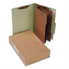ACCO Pressboard 25-Pt Classification Folders, Legal, 8-Section, Leaf Green, 10/Box
