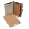 ACCO Pressboard 25-Pt Classification Folders, Legal, 6-Section, Mist Gray, 10/Box