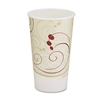 SOLO Cup Company Hot Cups, Symphony Design, 16oz, Beige, 1000/Carton
