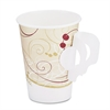 Hot Cups, w/Paper Handle, Symphony Design, 8oz, Beige, 1000/Carton