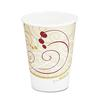 SOLO Cup Company Hot Cups, Symphony Design, 8oz, Beige, 1000/Carton