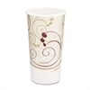 SOLO Cup Company Hot Cups, Symphony Design, 20oz, Beige, 600/Carton