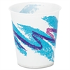 Jazz Waxed Paper Cold Cups, 5oz, Tide Design, 3000/Carton