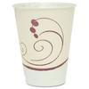 SOLO Cup Company Symphony Design Trophy Foam Hot/Cold Drink Cups, 12oz, Beige, 100/Pack