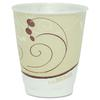 SOLO Cup Company Symphony Design Trophy Foam Hot/Cold Drink Cups, 8oz, Beige, 100/Pack