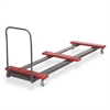 Cosco Table Truck, 8 Foot Rectangular, 10-12 Table Capacity, Black/Red