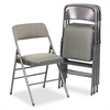 Deluxe Fabric Padded Seat & Back Folding Chairs, Cavallaro Dark Gray, 4/Carton