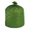 Stout Eco-Degradable Plastic Trash Garbage Bag, 33gal, 1.1mil, 33 x 40, Green, 40/Box