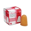 Rubber Finger Tips, 14 (X-Large), Amber, Dozen