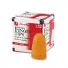Swingline Rubber Finger Tips, 13 (Large), Amber, Dozen