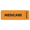 Medical Labels for Medicare, 1 x 3, Fluorescent Orange, 250/Roll