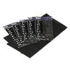 Table Set Rectangular Table Covers, Heavyweight Plastic, 54 x 108, Black, 6/Pack