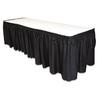 "Table Set Linen-Like Table Skirting, 29"" x 14ft, Black"