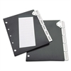 Index Divider Set For Catalog Rack, 5-Tab Set, Black