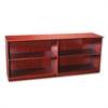 Mayline Veneer Low Wall Cabinet without Doors, 72w x 19d x 29-1/2h, Sierra Cherry