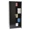 "Tennsco 78"" High Deluxe Cabinet, 36w x 18d x 78h, Black"