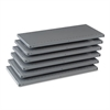 "Tennsco Industrial Steel Shelving for 87"" High Posts, 36w x 18d, Medium Gray, 6/Carton"