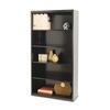Tennsco Metal Bookcase, Five-Shelf, 34-1/2w x 13-1/2d x 66h, Black