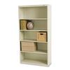 Tennsco Metal Bookcase, Five-Shelf, 34-1/2w x 13-1/2d x 66h, Putty