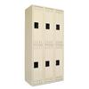 Tennsco Double Tier Locker, Triple Stack, 36w x 18d x 72h, Sand
