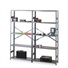 Commercial Steel Shelving, Six-Shelf, 36w x 18d x 75h, Medium Gray