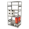 Tennsco Commercial Steel Shelving, Six-Shelf, 36w x 24d x 75h, Medium Gray