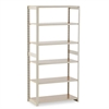 Regal Shelving Add-On Unit, Six-Shelf, 36w x 18d x 76h, Sand