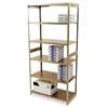 Regal Shelving Starter Set, Six-Shelf, 36w x 18d x 76h, Sand