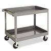 Tennsco Two-Shelf Metal Cart, 24w x 36d x 32h, Gray