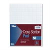 TOPS Cross Section Pads, 4 Squares, 8 1/2 x 11, White, 50 Sheets