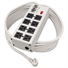 Isobar Metal Surge Suppressor, 8 Outlets, 25 ft Cord, 3840 Joules, Light Gray