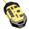 Tripp Lite Safety Surge Suppressor, 8 Outlets, 12 ft Cord, 1500 Joules, Yellow/Black, OSHA