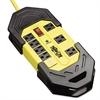 Safety Surge Suppressor, 8 Outlets, 25 ft Cord, 3900 Joules, Yellow/Black, OSHA