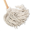 "Boardwalk Deck Mop, 54"" Wooden Handle, 20oz Cotton Fiber Head, 6/Carton"
