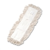 Industrial Dust Mop Head, Hygrade Cotton, 24w x 5d, White