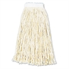 Boardwalk Premium Cut-End Wet Mop Heads, Cotton, 16oz, White, 12/Carton