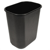 Soft-Sided Wastebasket, 28qt, Black
