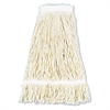 Pro Loop Web/Tailband Wet Mop Head, Cotton, 24oz, White, 12/Carton