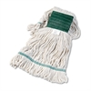 Boardwalk Super Loop Wet Mop Head, Cotton/Synthetic, Medium Size, White